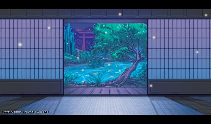 Dojo Background - Night by missypena