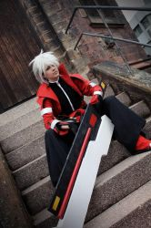 Outta my way...or you're dead-Ragna the Bloodedge by WoBu-Chan