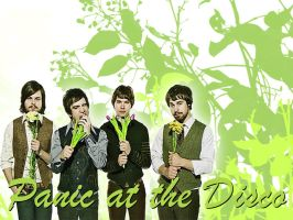 Panic at the disco Wallpaper 3 by angryannoyance