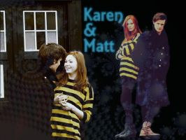 Karen and Matt by icewormie