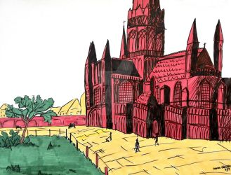 Cathedral - Sketch by Milana87