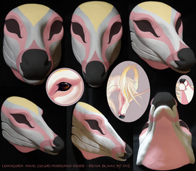 Lunacorn's color/markings guide (on DVC doe blank) by swandog