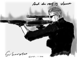 wesker with rifle by silverstro