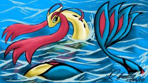 Milotic- Beauty of the Sea by Rob-Hutch