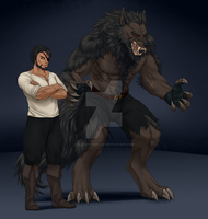 Comm for ThyBlackReaper: Might Werewolf's Concept by BlackWiteBeast