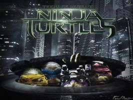Teenage Mutant Ninja Turtles Retro Cover style by HZ-Designs