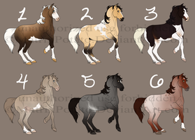 Horse Adopts OPEN (3/6 taken) by MatrixPotato