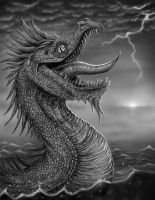 The Sea Monster by Techdrakonic