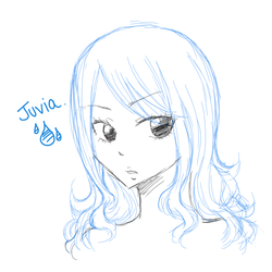 Juvia Sketch Portrait by Rytsuko
