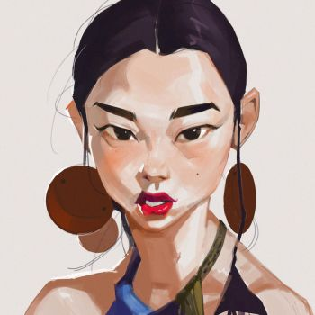 Earrings by samuelyounart