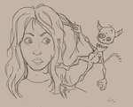 Me and my Gremlin by Vixxybo