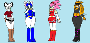 Sonic girls 1 - Reduxed by Ant-D