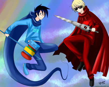 John Egbert and Dave Strider by Timeless-Knight