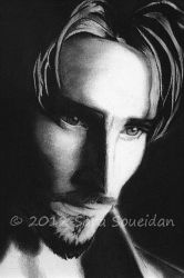 Charcoal Portrait by EmYoussif