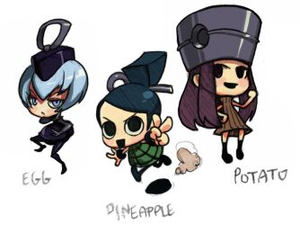 Grenade-tan- Pineapple and co. by oh8