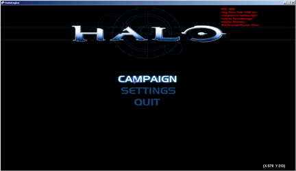 Halo Engine Main Screen by Upperfoot