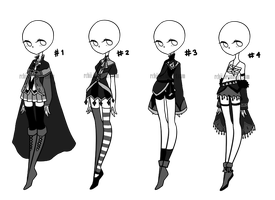 CLOSE : OUTFIT AUCTION  01 (MONOCHROME) by rchii