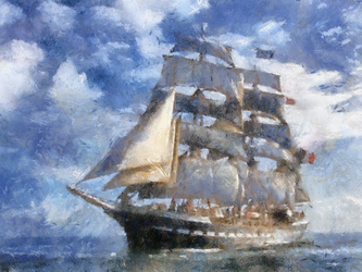 French Sailing Ship 1 by diverse-norm