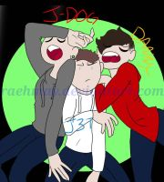 J-Dog + J3T + Danny by RaehMay