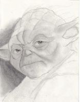 Unfinished Yoda by melies