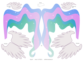 Princess Celestia pattern 4of4 by muffinshire