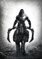 Darksiders 2 Death Drawing by Bajan-Art