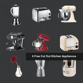 9 Free Cut Out Kitchen Appliances in Photoshop for by kropped