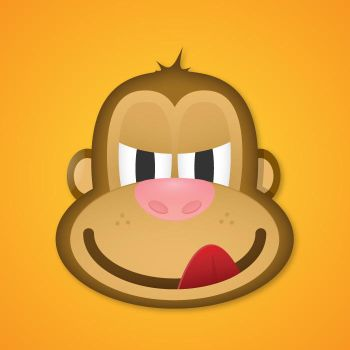 Monkey face in Illustrator by VforVectors