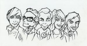 The Big Bang Theory - Ink by LeftHandedMutant