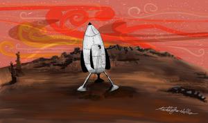 Mars, an ealier mission by teddybearcholla