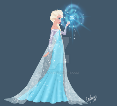 Elsa...and a snowflake by Cor104