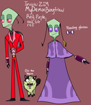 IZ MDB headcanon Red, Purple, and Gir ref by Glitched-Irken
