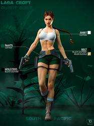 Lara Croft Outfit Guide: South Pacific by FredelsStuff