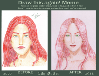 Before and After meme- Lily by Nemesis-Eris