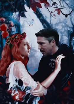 AU Petyr and Sansa: Hades and Persephone. by Eaulinka