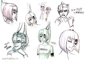 Portal 2 Sketches -Spoilers- by TwinklePowderySnow