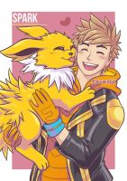 Spark and Jolteon
