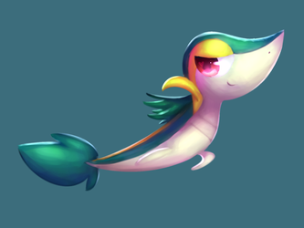 Snivy by Ninhawesome10