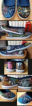 Doctor Who Shoes by EerieStir