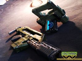 M41A Pulserifle and Motion Tracker ( FINAL ) by Saskeks