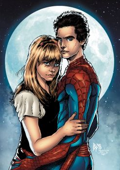 Spiderman( Peter And Gwen) Colors by ObbArt