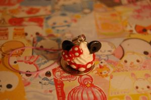 Minnie Mouse Cupcake by FatCatCharms