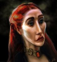 Melisandre Caricature by RedSaucers