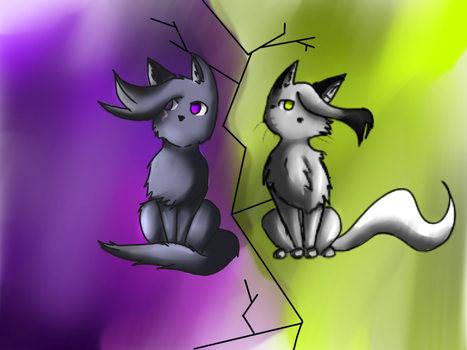 Mystickit and Willowkit by Iceshadow0231