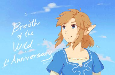 BotW Anniversary by lulles