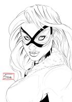 Toni Gutierrez Art Black Cat Marvel inks by Lion542