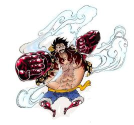 Monkey.D.Luffy: Gear Fourth (Bounce-Man) by MohaSetif
