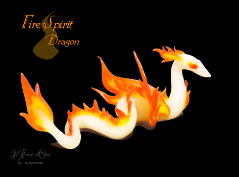 Fire Spirit Dragon (second version) by rosepeonie