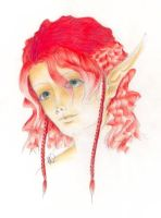 Red Haired Elf by Caria