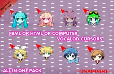 Vocaloid cursor now can be use as windows cursor by Shana-chan07
